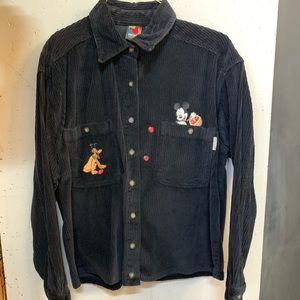 Disney Mickey and Pluto Button up